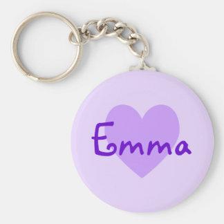Emma en púrpura llavero personalizado