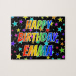 "[ Thumbnail: ""Emma"" First Name, Fun ""Happy Birthday"" Jigsaw Puzzle ]"