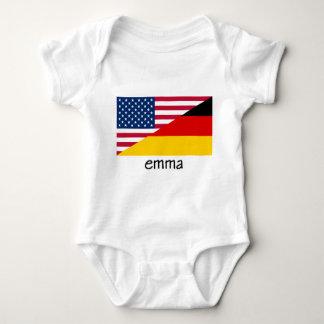 emma, german-american flag t shirt