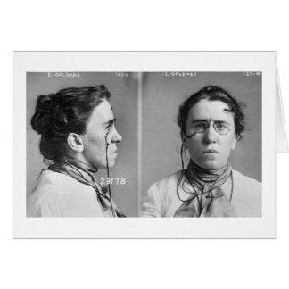 Emma Goldman - anarquista, 1911 Tarjetón