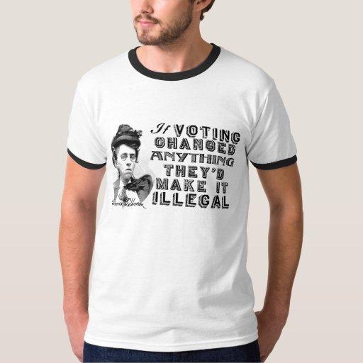Emma Goldman que vota la camisa