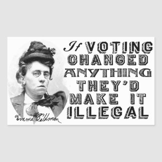 Emma Goldman Voting Quote Stickers
