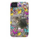 Emma in Butterflies I - Gray Tabby Kitten iPhone 4 Cover