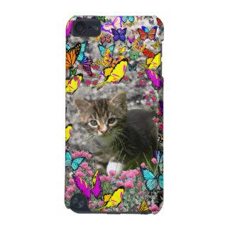 Emma in Butterflies I - Gray Tabby Kitten iPod Touch (5th Generation) Covers