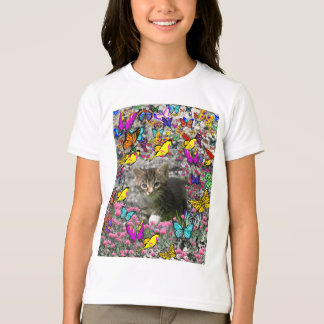 Emma in Butterflies I - Gray Tabby Kitten T-Shirt