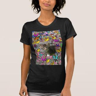 Emma in Butterflies I - Gray Tabby Kitten Shirt