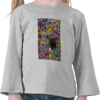 Emma in Butterflies I - Gray Tabby Kitten T-shirt