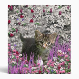 Emma in Flowers I – Little Gray Kitten 3 Ring Binder