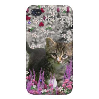 Emma in Flowers I – Little Gray Kitten iPhone 4/4S Cover