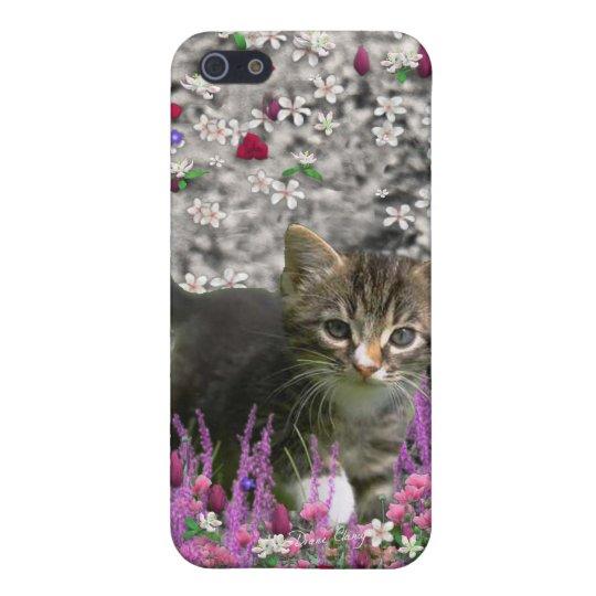 Emma in Flowers I – Little Gray Kitten iPhone SE/5/5s Case