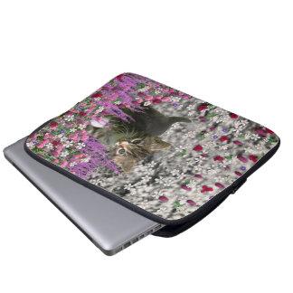Emma in Flowers I – Little Gray Kitten Laptop Sleeve