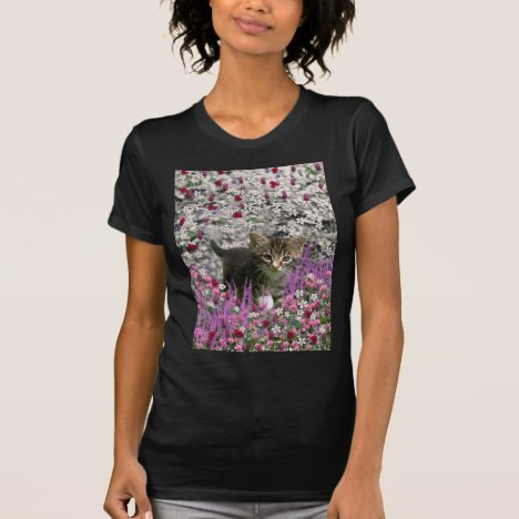 Emma in Flowers I – Little Gray Kitten T-Shirt