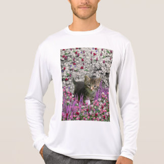 Emma in Flowers I – Little Gray Kitten T-Shirt