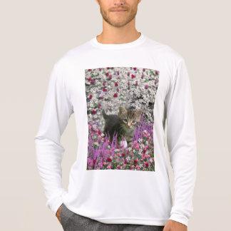 Emma in Flowers I – Little Gray Kitten T-shirts