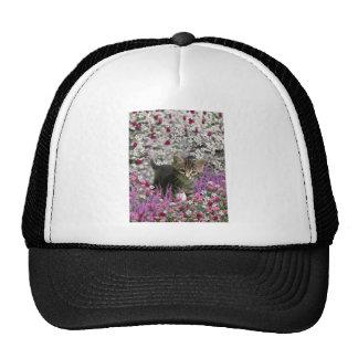 Emma in Flowers I – Little Gray Kitten Trucker Hat
