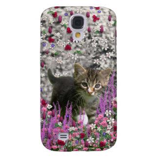 Emma in Flowers I – Little Gray Kitty Cat Galaxy S4 Case