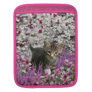 Emma in Flowers I – Little Gray Kitty Cat iPad Sleeve