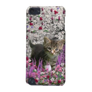 Emma in Flowers I – Little Gray Kitty Cat iPod Touch 5G Cover