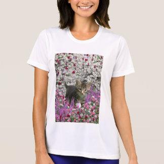Emma in Flowers I – Little Gray Kitty Cat Shirt