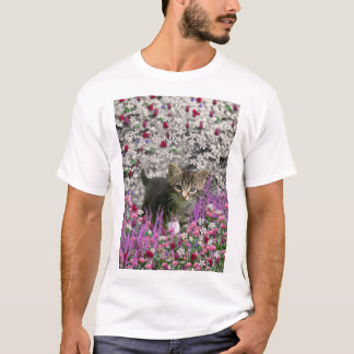 Emma in Flowers I – Little Gray Kitty Cat T-Shirt