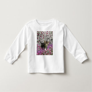 Emma in Flowers I – Little Gray Kitty Cat Toddler T-shirt