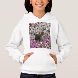 Emma in Flowers I – Little Gray Tabby Kitten Hoodie