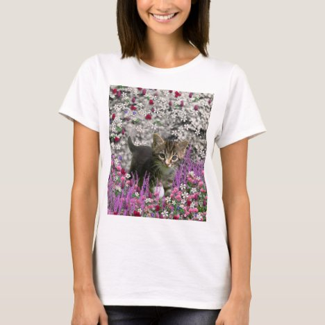 Emma in Flowers I – Little Gray Tabby Kitten T-Shirt
