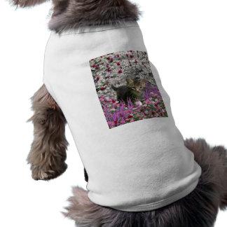 Emma in Flowers I – Little Gray Tabby Kitten T-Shirt