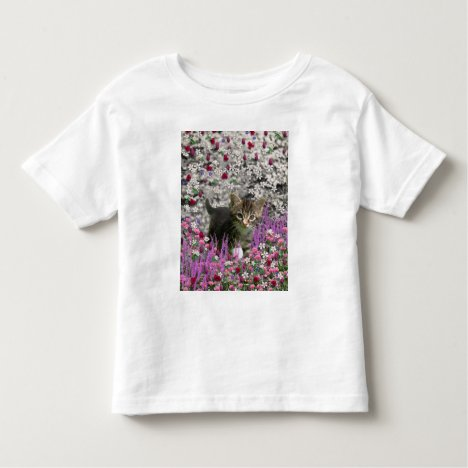 Emma in Flowers I – Little Gray Tabby Kitten Toddler T-shirt