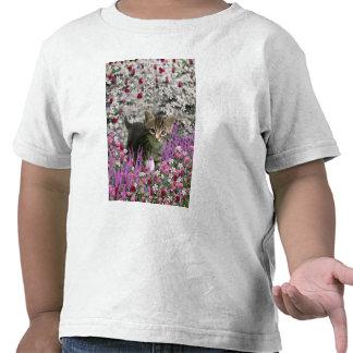 Emma in Flowers I – Little Gray Tabby Kitten Tee Shirts
