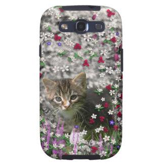Emma in Flowers II, Little Gray Tabby Kitty Cat Galaxy S3 Cover