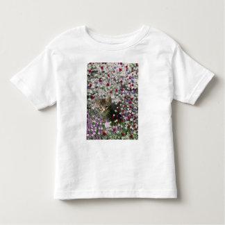 Emma in Flowers II, Little Gray Tabby Kitty Cat Toddler T-shirt