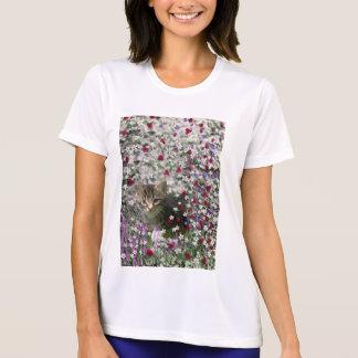 Emma in Flowers II, Little Gray Tabby Kitty Cat T Shirt