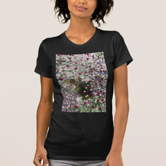 Emma in Flowers II, Little Gray Tabby Kitty Cat Tshirt