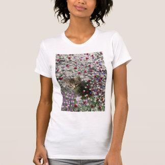 Emma in Flowers II, Little Gray Tabby Kitty Cat T Shirts