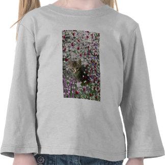 Emma in Flowers II, Little Gray Tabby Kitty Cat Tee Shirt