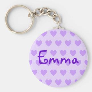 Emma in Purple Basic Round Button Keychain
