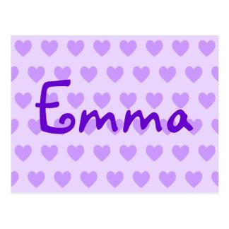 Emma in Purple Postcard