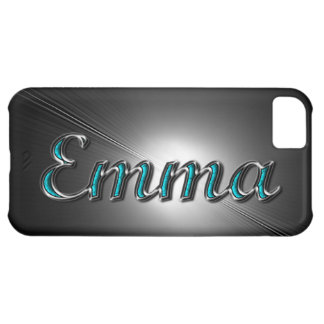 """""""Emma"""" iPhone Case in Turquoise and Silver Print iPhone 5C Covers"""
