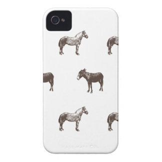 Emma Janeway Farmyard Horse and Mules Candle Set iPhone 4 Case-Mate Cases