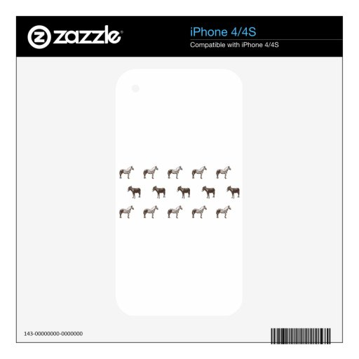 Emma Janeway Farmyard Horse and Mules Candle Set Decals For The iPhone 4