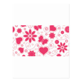 Emma Janeway Hearts and Flowers Collection Postcard
