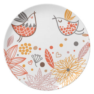 Emma Janeway Lovebirds Collection Dinner Plate