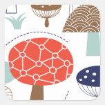 Emma Janeway Mushrooms Collection Square Sticker