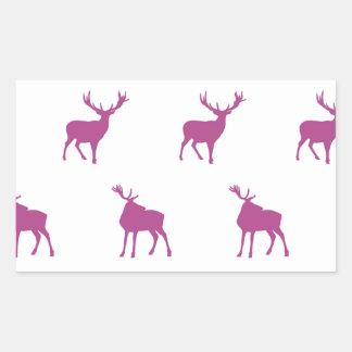 Emma Janeway Purple Stags Rectangular Sticker