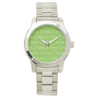 Emma - Modern Calligraphy Name Design Wrist Watches