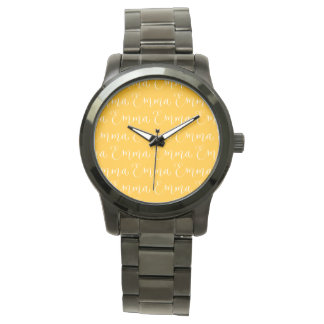 Emma - Modern Calligraphy Name Design Wristwatch