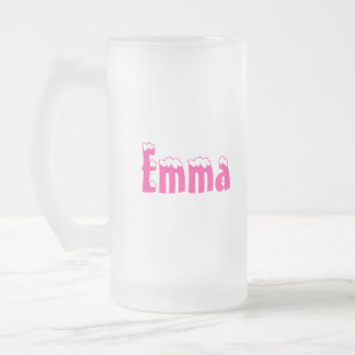 Emma-Name Style Frosted Mug