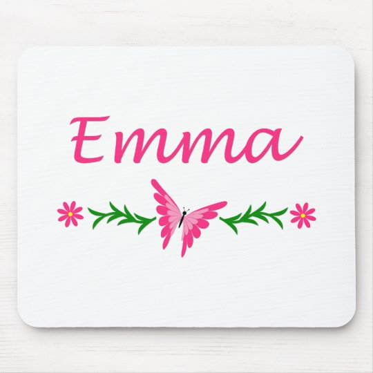 Emma (Pink Butterfly) Mouse Pad