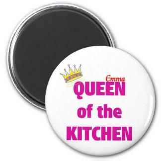 Emma queen of the kitchen 2 inch round magnet